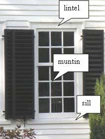 single-hung window on Georgian period house