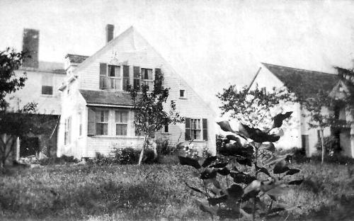 LeBoutllier house transformed with barn on right