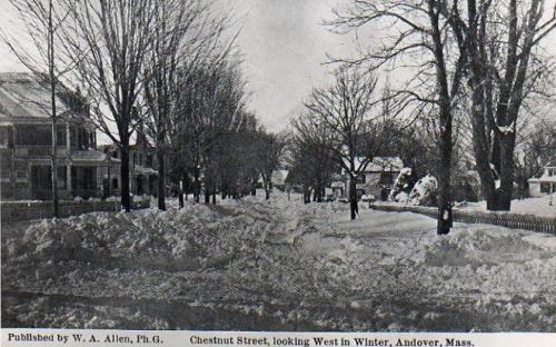 15 & 13 Chestnut on left, 8 Chestnut on right circa 1900.