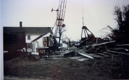 Barn razed 1964 - 1965