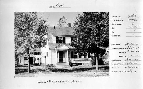 Circa 1924 - note garage and laundry on line