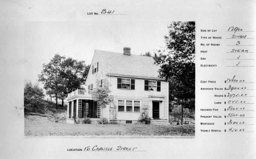 15 Carlisle S. circa 1932 - reversed floor plan