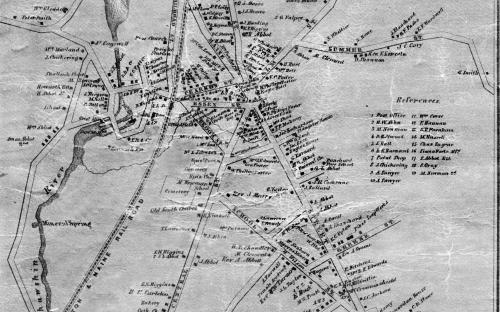 1852 Map of Andover Center