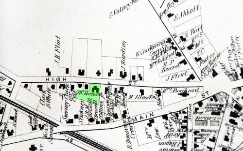 1872 map detail of High St.