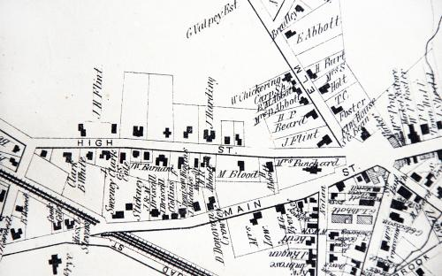 1872 Map of High St.