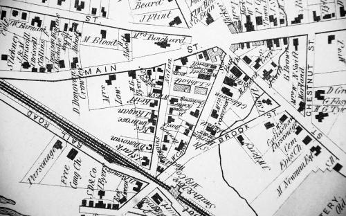 1872 Map detail of Pearson St
