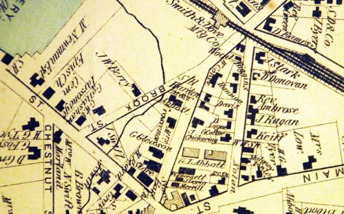 1906 map detail of Pearson St.