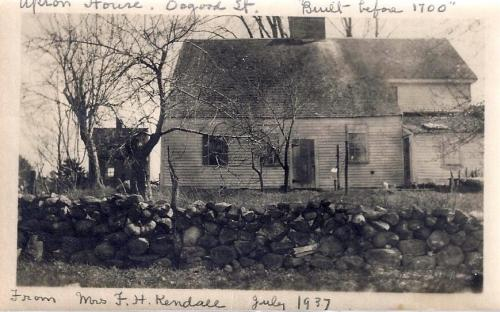 1937 rear of the Blanchard-Upton House with shop on left