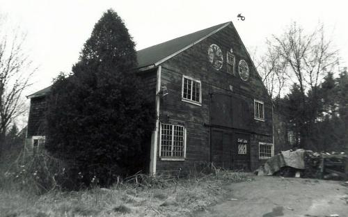 Former barn east of house at 3 Hearthstone Place