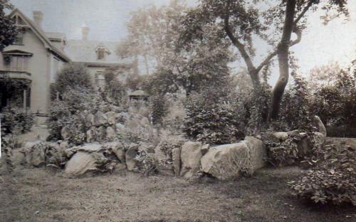 Tyer Estate garden 1900 - site of St. A. school