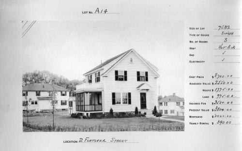 2 Fletcher St. circa 1932 - same style as #54 Union St.