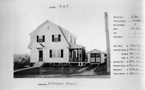 3 Fletcher St. circa 1924 same style home, flipped plan