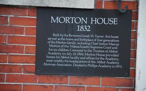 Morton House plaque