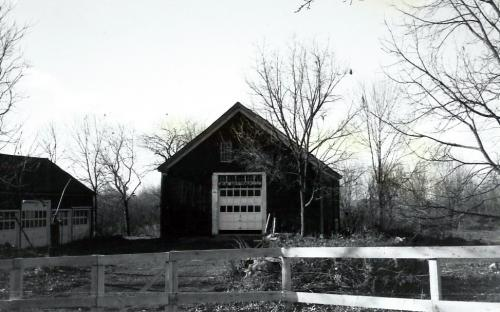 Barn and garage 1988 - razed 1989