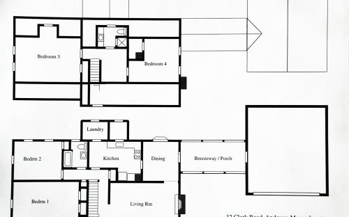 Floor plan of the Leno home 2001