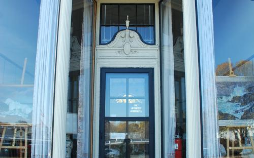 East facade doorway detail