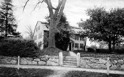 The old South Church parsonage circa 1890