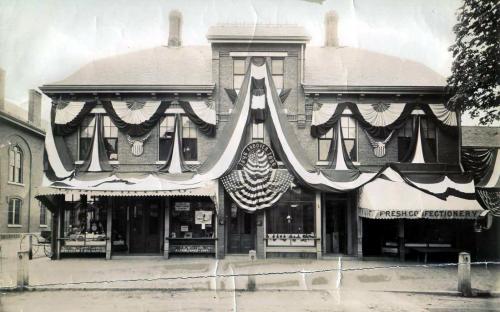 Barnard Brick Block 1896 - Whiting/s Jewelry store - note logo in window