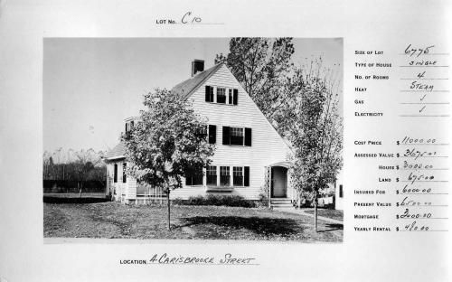 4 Carisbrooke St. - same style - reversed fllor plan - circa 1932