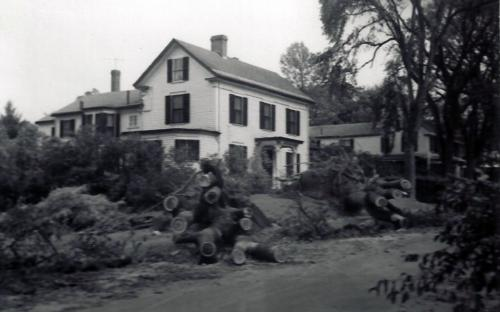 41 and 39 School St. after 1954 hurricane