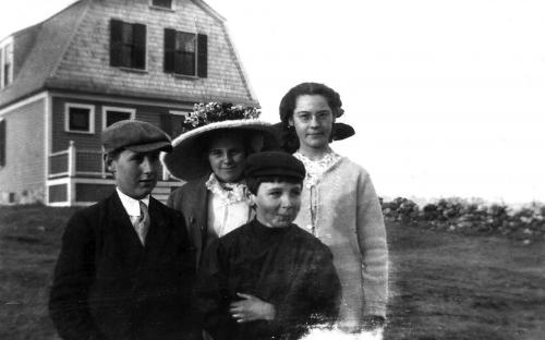Bailey family in front of the home circa 1912