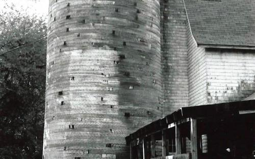 rear silo at west end of barn - two silos