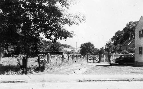 Side yard and now Gradall Lane c. 1950