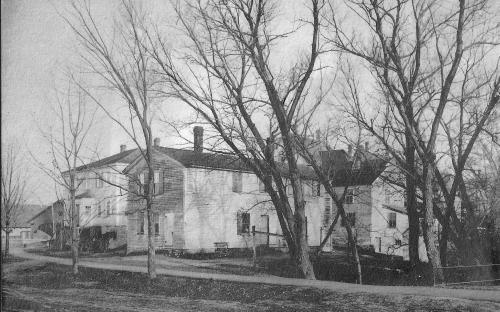 Mark Newman house about 1900 after moving and conversion