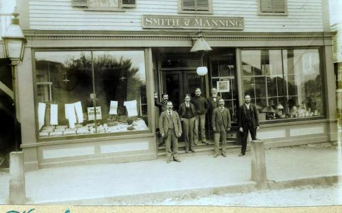 Smith & Manning Store front circa 1895-1900