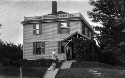 Ropes House circa 1895 - 1900 - Professor Ropes at front porch