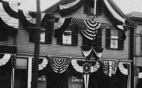 Sept. 1919  detal - Flander's Lunch and Samuel Leone Barber Shop