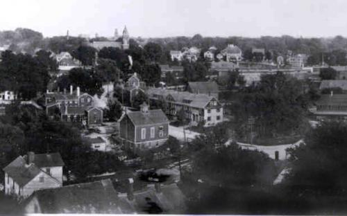 Birds eye view of Abbott Villlage abt 1915 - Dooris house on left