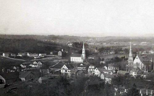 Free Church Center - Niotus Field to right Circa 1880