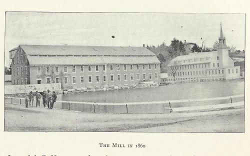Ballard Vale Mills in 1860