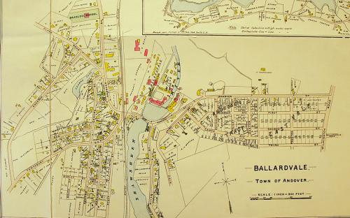 Detail of 1906 map of Ballardvale