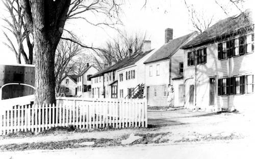 Baker Lane circa 1895 - note former shed on left