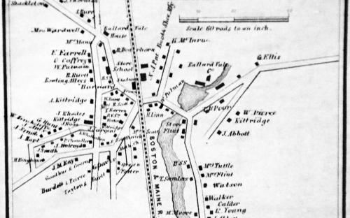 1856 map of Ballardvale Center