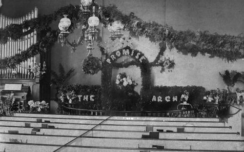 Organ and pulpit circa 1895