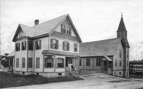Circa 1895 Parsonage and Union Congregational Church