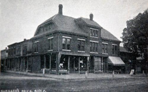 "Barnard ""Brick Block 1891 - Glimpses of Andover"