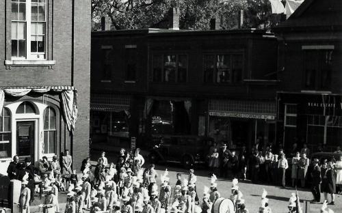 Detail of Barnard St. stores c. 1943