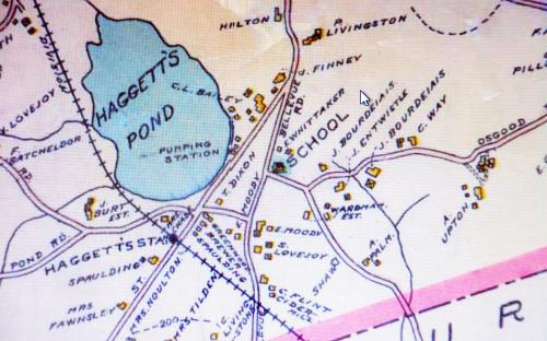 1906 map detail of Haggetts Station