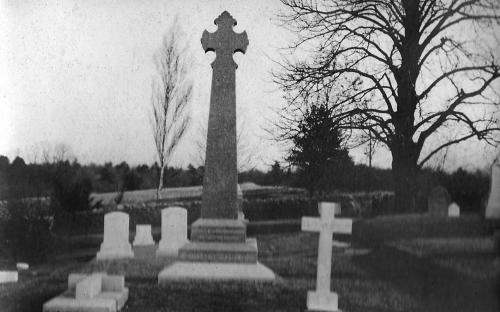 Stowe family lot in Chapel Cemetery c. 1900