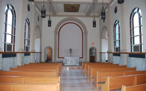 Chapel interior Sept. 2014