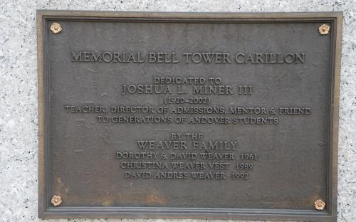 Joshua L. Miner III - Dedication of Memorial Bell Tower Carillon
