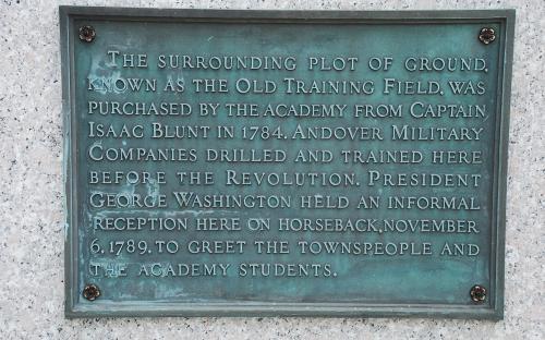 Historic Marker - Training Grounds