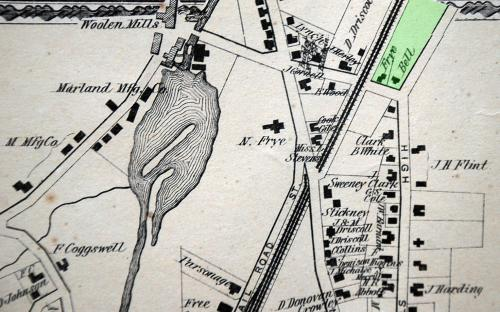 1872 map detail of High St.& Harding St