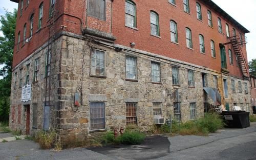 Sept. 20, 2014 - Staone Mill - east wall - note 3rd floor passageway doors