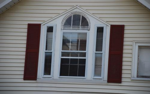 Gable window detail - June 17, 2014