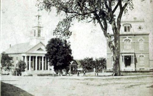 1875 Elm Sq. Baptist Church, Smith & Manning & the Library